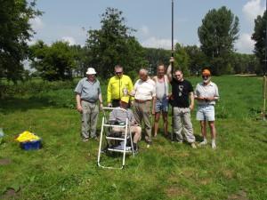 Wir beim Feldtag, 2 von li Jürgen - DM2AN, unser OVV