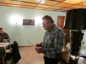 Jürgen - DM2AN beim Rechenschaftsbericht