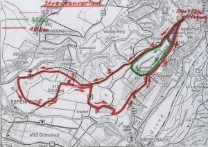 Streckenkarte Alteburglauf - 2