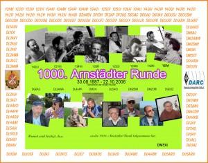Das Diplom zur 1000. Arnstädter Runde