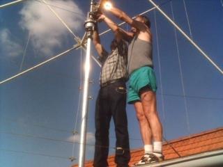 Antennenbau bei Klaus, DM3XI